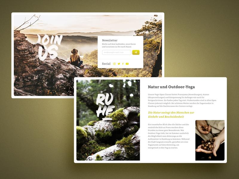 Green Yoga design hamburg germany freelancer ui landingpage homepage webdesign screendesign