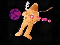 Get some space 👨🚀 #socialdistancing sanitizer sanitize social social distancing corona earth art design procreate illustration gal shir digital covid astronaut