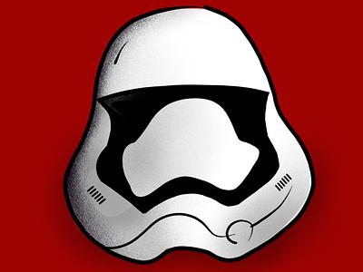 Storm trooper. illustration black white red fan art art digital procreate storm trooper star wars