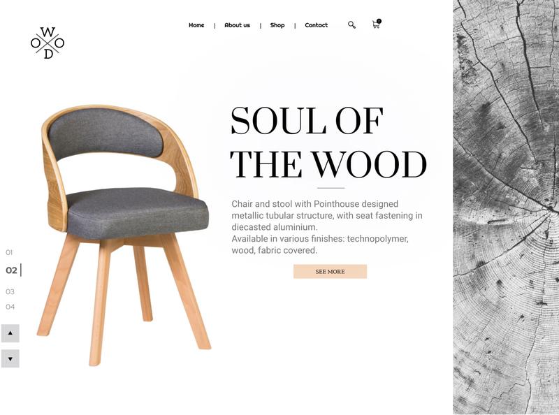 Daily UI 003 -  Landing page furniture store furniture product design minimal landing landingpage web daily 100 challenge