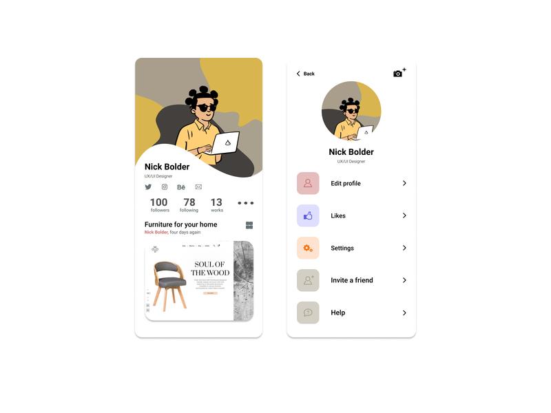Daily UI 006 - User Profile user interface figma design app profile user ui product dailyui app web design daily 100 challenge