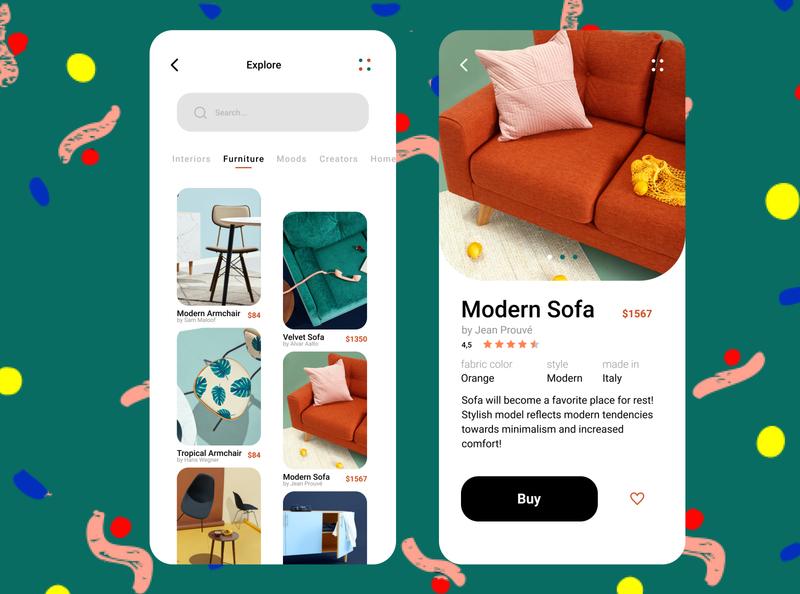 Daily UI 012 E-Commerce Shop designer app design furniture design furniture store furniture shop product minimal dailyui ui app web design daily 100 challenge