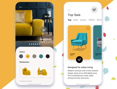 Online Shop app ui design