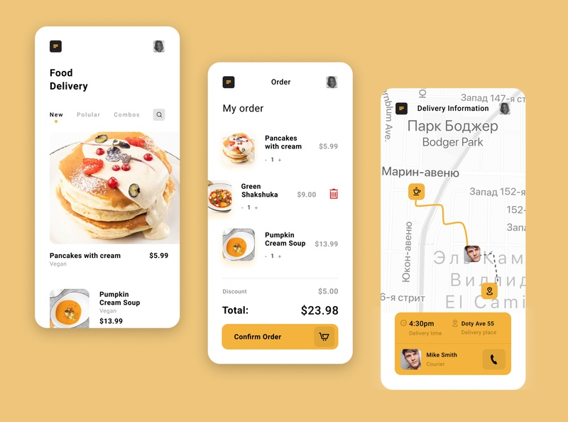 Food Delivery App. design art delivery delivery app product ui  ux design app design food app ui
