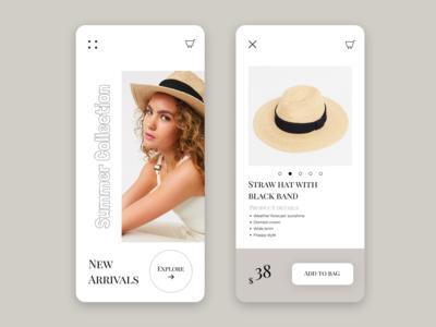 Online Shop App ui  ux product app web ui design