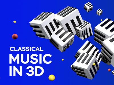 Classical Music In 3d vrn-dribbble-sd 3d classical music identity