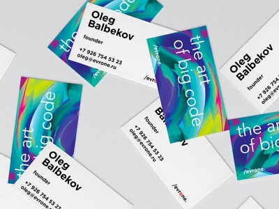 Evrone Business Card vrn-dribbble-sd glitch identity dynamic abstract 3d