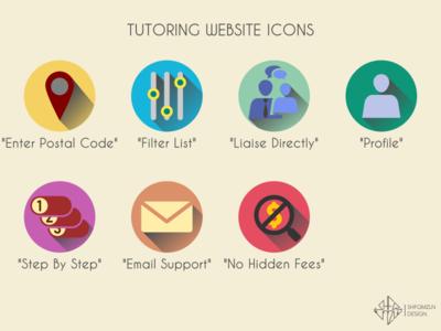 Tutoring Website Icons