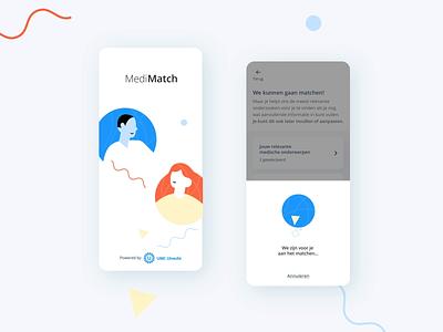 UMC Utrecht matching app amsterdam healthcare motion icons app branding design illustration animation ux ui