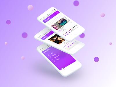 Songbox Dribbble music musicplayer app mobile ux ui