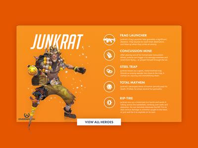 Overwatch Junkrat old work junkrat gaming orange ui overwatch