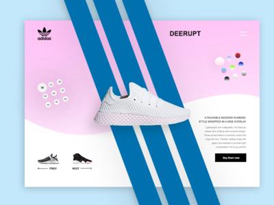 Deerupt clean deerupt adidas concept expirimental ui