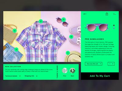Clothing Brand Detail portfolio desktop shopping detail brand clothing