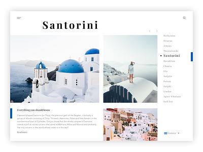 Santorini desktop concept ux ui santorini greece pics pictures clean travel