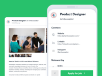 Howe: A Jobs Board Experiment interface mobile ui ui jobs job board