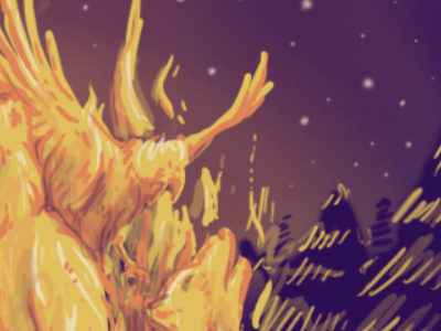 Working on roughs for a really exciting project! llustration rough fire forest screenprint gigposter