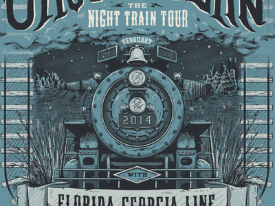 This one's reaching the end of the line! train keyline steamengine screenprint finished gigposter illustration halftones