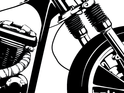 progress on this week's print illustration keyline motorcyclpostere engine screenprint gig