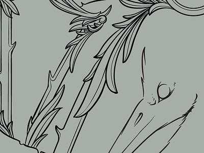progress illustration screenprint gigposter frame wip bird