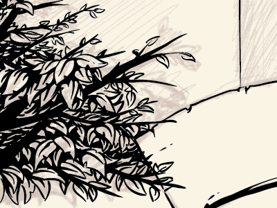 and another one begins... illustration screenprint gigposter wip nature trees leaves