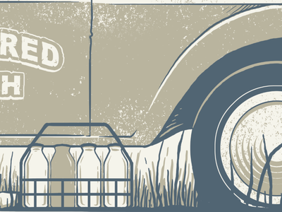 Nearly done with our first comedy tour poster. illustration screenprint poster wip texture milktruck