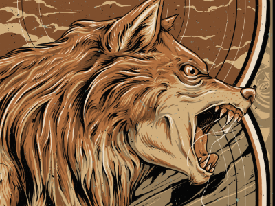 Wolf in Progress gigposter poster illustration wolf