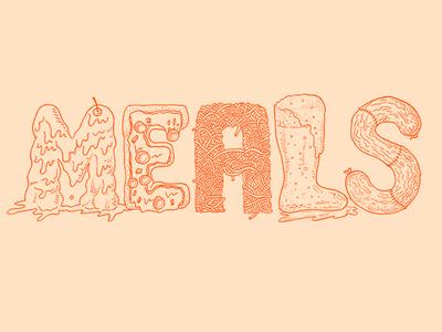 [Last] Meals zine cover