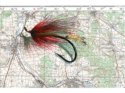 Fly Tie explore nature adventure illustration sports outdoors flyfishing map watercolor