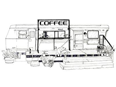 Flitch Img austin atx illustration tee tshirt establishment business trailer coffee drawing ink