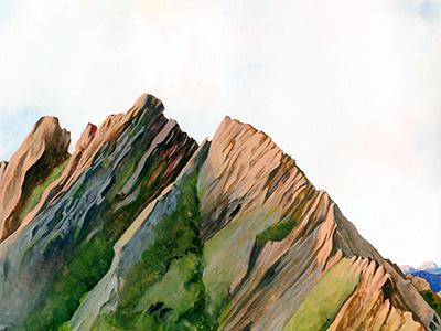 Dragon's Teeth parks adventure travel newzealand mountains nature landscape illustration gouache