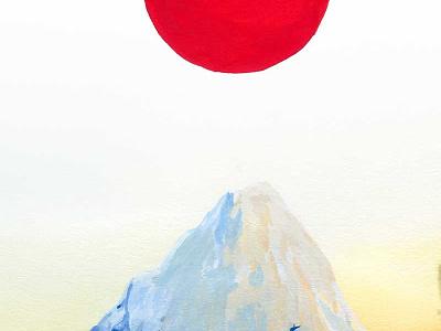 Red Sun Mountain climbing snow alpine adventure outdoors nature mountain sun red