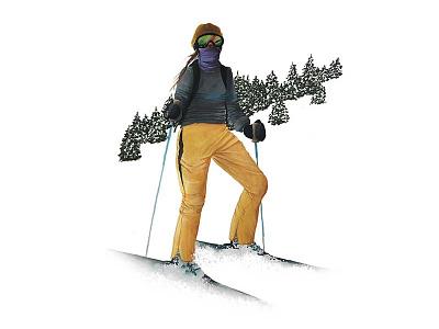 Skier nature outdoors snowboard snow colorado utah skiing skier ski sports adventure