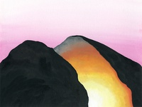 The Split That Showed Us art gallery rock landscape illustration painting gouache