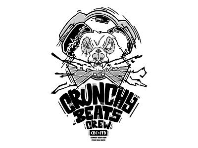 CrunchyBeats Crew (T-shirt) music dance crew bear t-shirt streetwear logo illustration fashion design clothing brand apparel