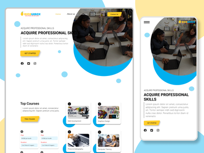 Web Design: Academy website ux webdesign mobile ui web mobile-app ui