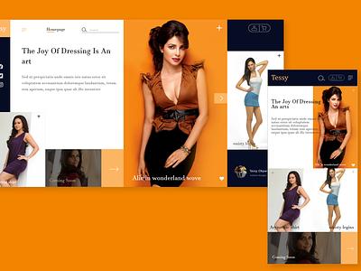 Fashion Designer website web