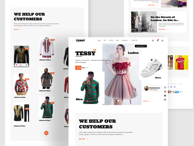 Website Design  - Fashion Designer Concept web design business website fashion website