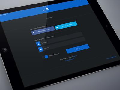 UI Social Login Screen