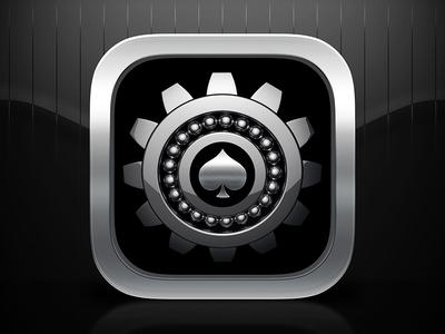 3D Gear Icon ios icon 3d cinema4d chrome cog gear ace