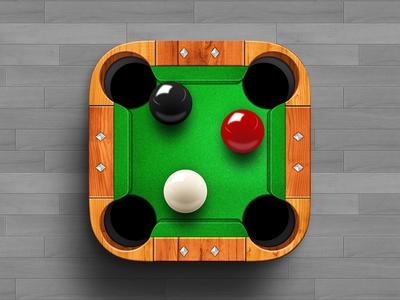 Billiards Pro iOS Icon ios icon app snooker billiards pool ball wood table ui