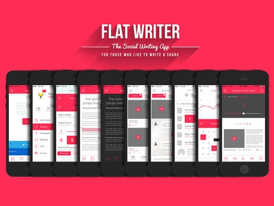 Flat Writer - Can this be done? ios icon flat clean apple android app ui ux user interface