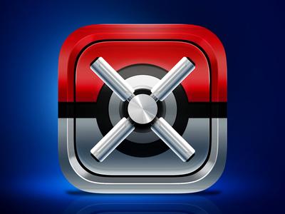 Pokevault app icon icon android ios pokeball vault safe pokevault pokemon