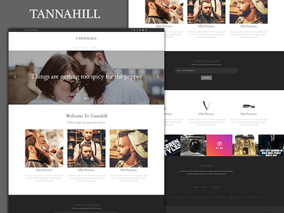 TANNAHILL -  Theme Template Layout for custom CMS barbers template admin dashboard cms light dark color ux ui layout theme