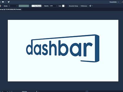 Dashbar Branding simple clean vector adobe illustrator logo design logo branding