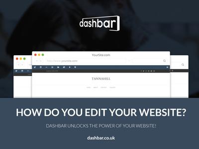 Dashbar Ad unique simple clean bar cms editor website dashbar