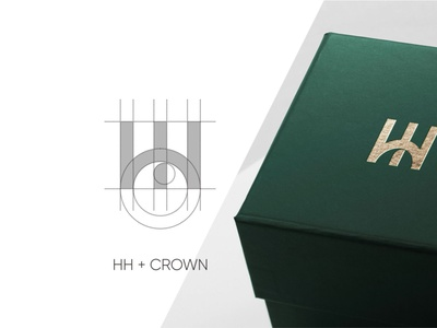 HH + crown logo concept bakery vector illustration modern logo design learning logo simple design branding app