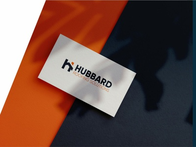 HUBBARD logo mockup presentation orange modern illustration logo design learning simple design logo branding app