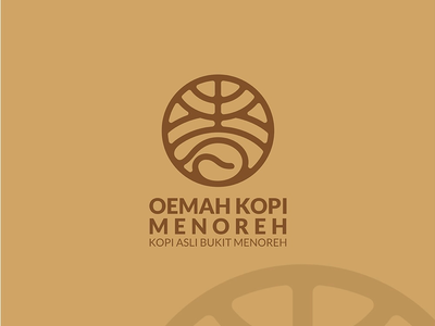 Oemah kopi menoreh logo concept logo