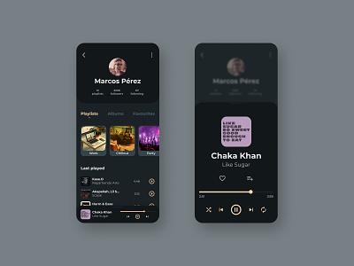 Daily UI #006 - User Profile daily daily ui 006 dailyui daily ui music ux  ui uxdesign ux uxui uidesign ui design app
