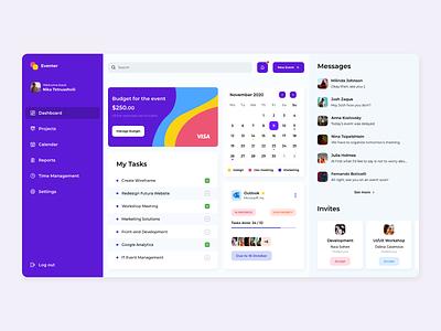 Eventer Dashboard ux website design ui design dashboard design dashboard ui dashboad website concept web ui  ux ui design